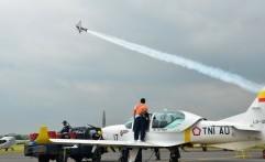 TNI AU Kerahkan Pesawat Tempur ke Kawasan Karhutla Riau